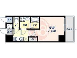 Osaka Metro谷町線 四天王寺前夕陽ヶ丘駅 徒歩7分の賃貸マンション 5階1Kの間取り