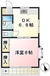 コーポタキ[1階]の間取り