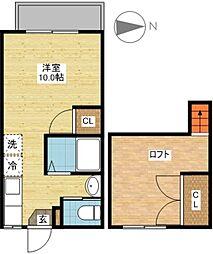 長崎県長崎市坂本1丁目の賃貸アパートの間取り
