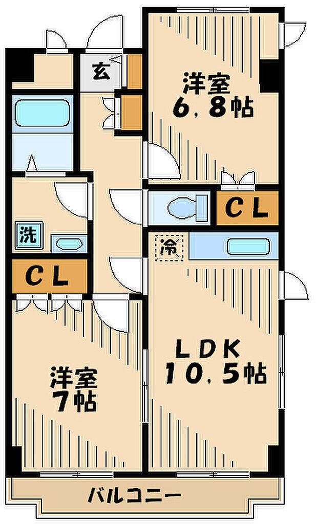 間取り(鉄筋コンクリート造のマンションです)