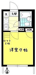 ケーハウス21[101号室]の間取り