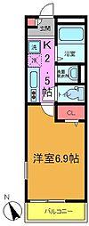 リブリ・本八幡[201号室]の間取り