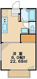 東京都多摩市一ノ宮2丁目の賃貸アパートの間取り