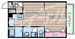 三福ロイヤルマンション 3階1DKの間取り