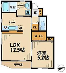 仮)多摩区中野島5丁目新築 1階1LDKの間取り