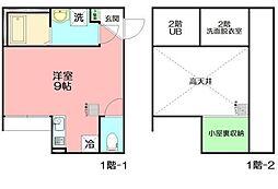 lifeship湘南辻堂サントリーニ 1階ワンルームの間取り