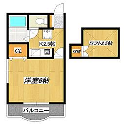 東京都江戸川区西小岩3の賃貸アパートの間取り