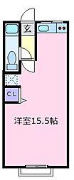 ライズワン松原[2階]の間取り