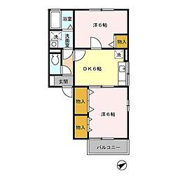 ガーデンハウス矢代田III[2階]の間取り