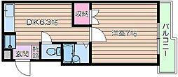 坂下ハイツIII[2階]の間取り