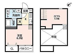 FIRST QUARTER(ファーストクォーター)[2階]の間取り