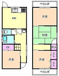 [一戸建] 大阪府枚方市養父東町 の賃貸【/】の間取り