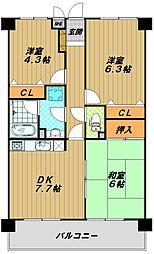 ノーブル須磨[1階]の間取り