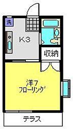 ハイツ丸山[103号室]の間取り