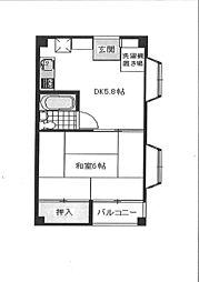 エトアールぴぁ・II[3階]の間取り