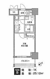 東京都台東区根岸5丁目の賃貸マンションの間取り