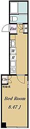都営三田線 板橋本町駅 徒歩5分の賃貸マンション 5階1Kの間取り