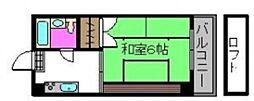 アパートメントハウスZUZU[303号室]の間取り