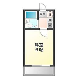 愛知県岡崎市井内町字風見の賃貸アパートの間取り