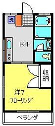 コーポサトウ[102号室]の間取り