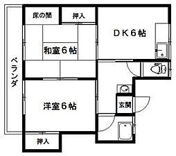 若宮荘[203号室]の間取り