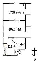 権藤アパート[201号室]の間取り