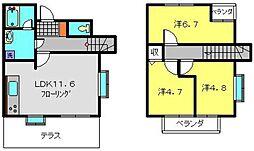 [テラスハウス] 神奈川県横浜市港北区下田町3丁目 の賃貸【/】の間取り