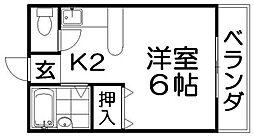 シャンテー長尾家具町[3階]の間取り