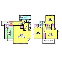 [一戸建] 神奈川県川崎市中原区市ノ坪 の賃貸【/】の間取り