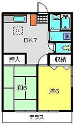 神奈川県横浜市港南区日野9丁目の賃貸アパートの間取り