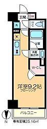 ザ・パークハビオ木場 12階ワンルームの間取り