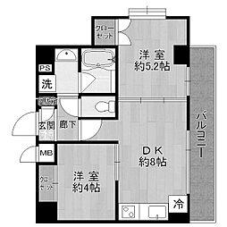 カーザソラーレ生田[3階]の間取り