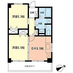 ニューコーポヤマヨシ[203号室]の間取り