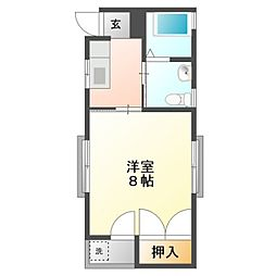 愛知県豊橋市浪ノ上町の賃貸アパートの間取り