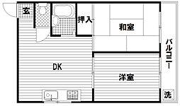 ハイツ須磨[4階]の間取り