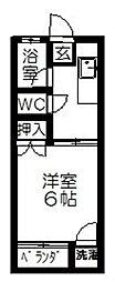 津福山一ビル[106号室]の間取り