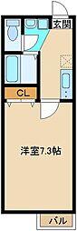 東武東上線 東武霞ヶ関駅 徒歩4分の賃貸アパート 1階1Kの間取り