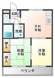 愛知県豊田市御幸本町6丁目の賃貸アパートの間取り