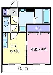 大阪府堺市美原区大饗の賃貸マンションの間取り