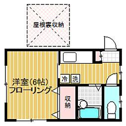 東京都渋谷区初台2丁目の賃貸アパートの間取り