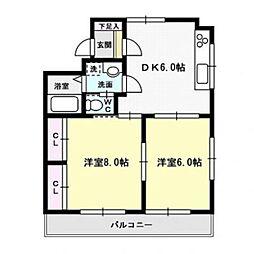 合原ビル[3階]の間取り