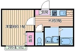(仮称)荒川区東尾久2丁目計画 1階1Kの間取り