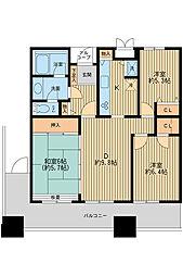 東武伊勢崎線 東向島駅 徒歩9分の賃貸マンション 26階3DKの間取り