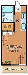 東京都杉並区高井戸東4丁目の賃貸アパートの間取り