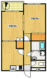 第153新井ビル[302号室]の間取り