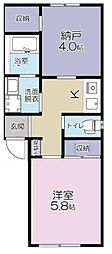 JR南武線 南多摩駅 徒歩1分の賃貸アパート 3階1SKの間取り