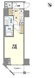 カーサスプレンディッド麻布仙台坂 6階1Kの間取り