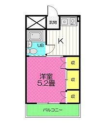 松山マンション[2階]の間取り