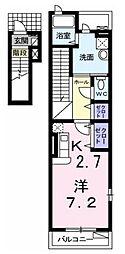 アクティフ[2階]の間取り