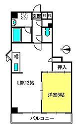 埼玉県さいたま市北区日進町2丁目の賃貸マンションの間取り